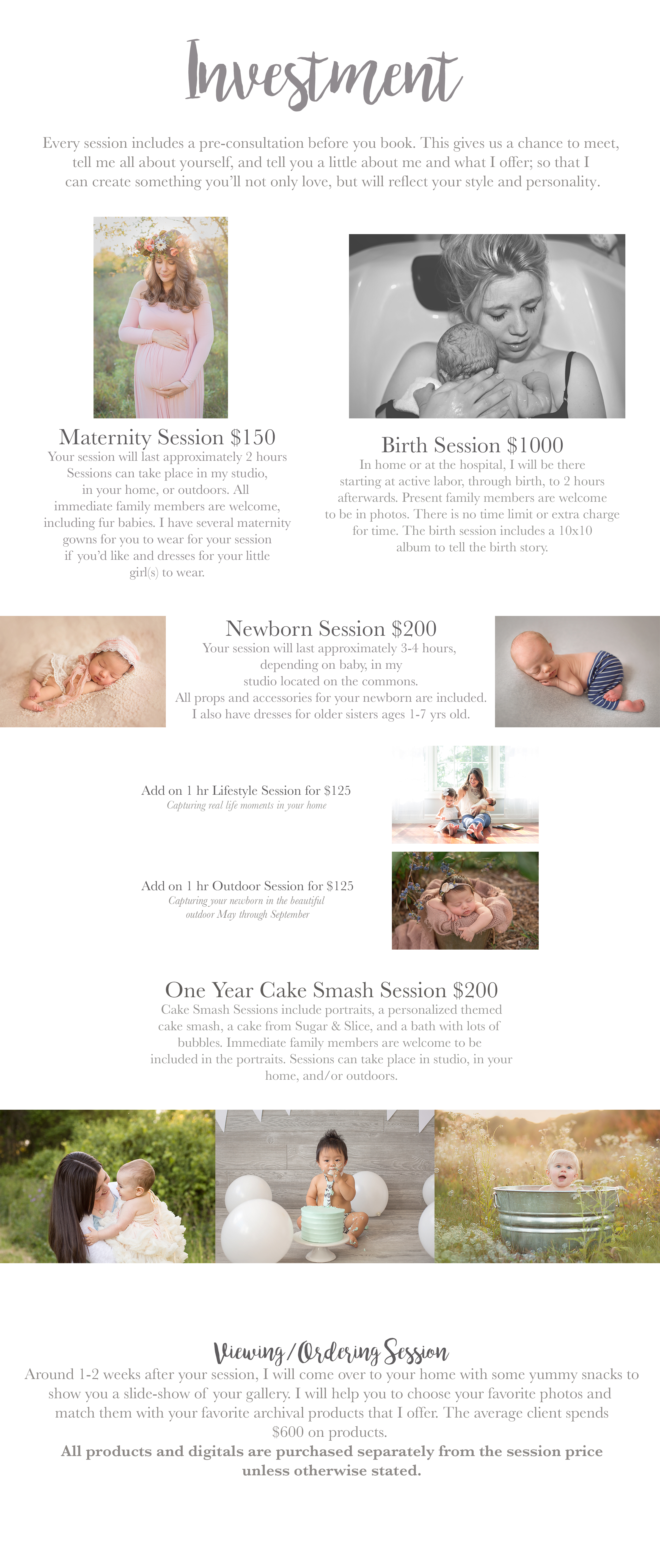 2017 investment ithaca maternity photography